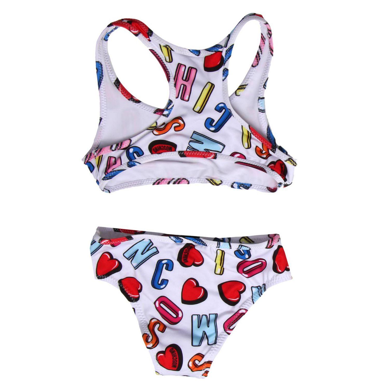 £86 MOSCHINO Black// White Swirly Front Logo Swimsuit 10// 12 Years Kids NEW