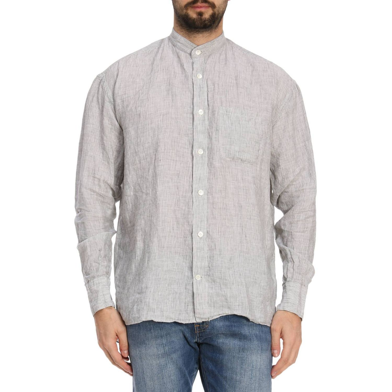 Shirt men Eleventy sage 1
