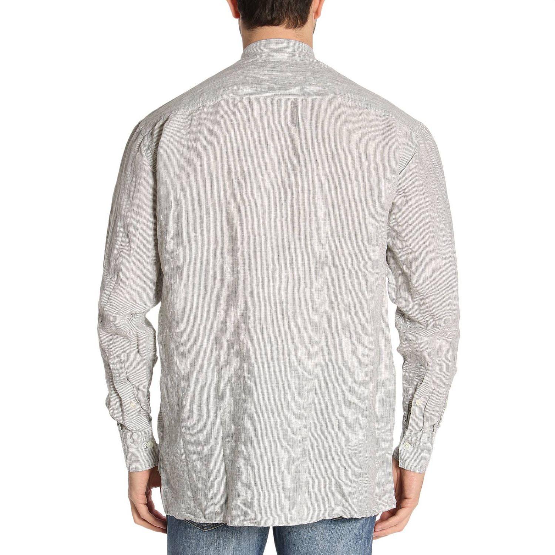 Shirt men Eleventy sage 3