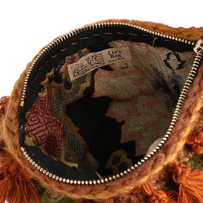 Borsa mini Lia's Bag: Borsa mini in maglia con strass e nappe militare 4