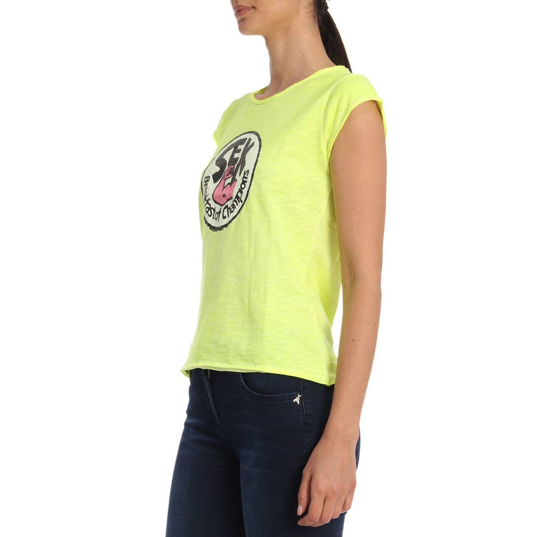 T恤 女士 1921 黄色 2