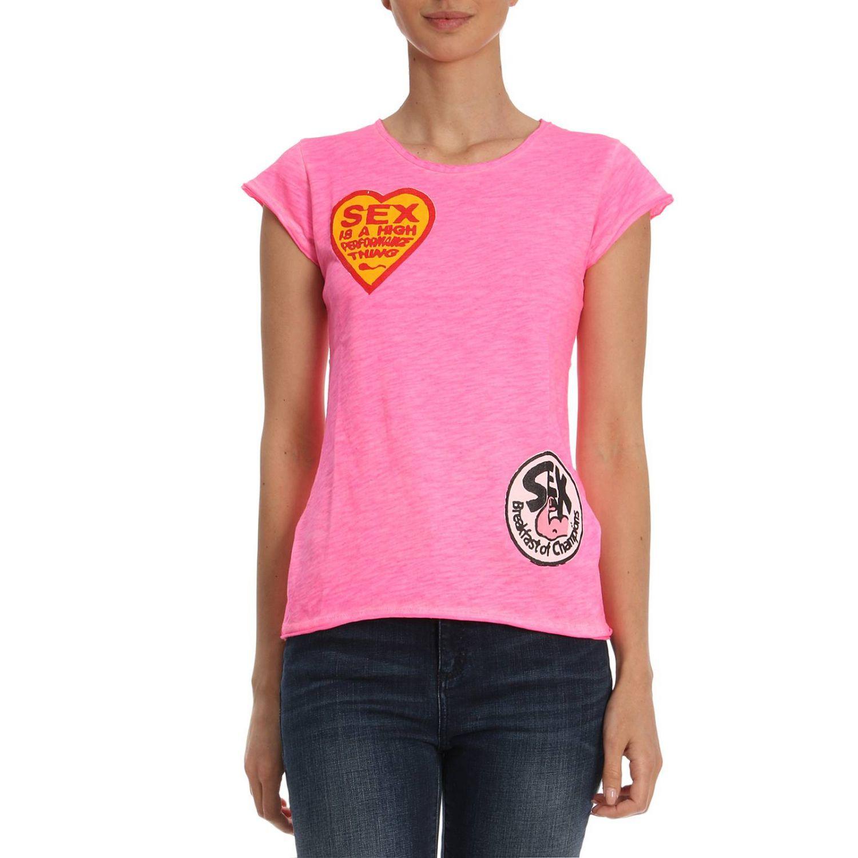 T-Shirt 1921: T-shirt damen 1921 pink 1