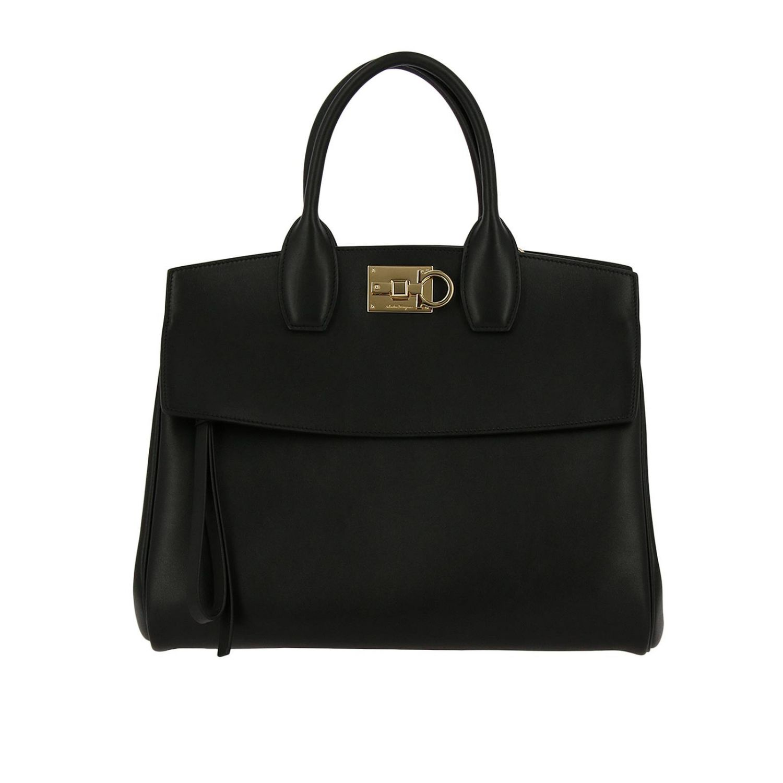 Handtasche Salvatore Ferragamo: Schultertasche damen Salvatore Ferragamo schwarz 1
