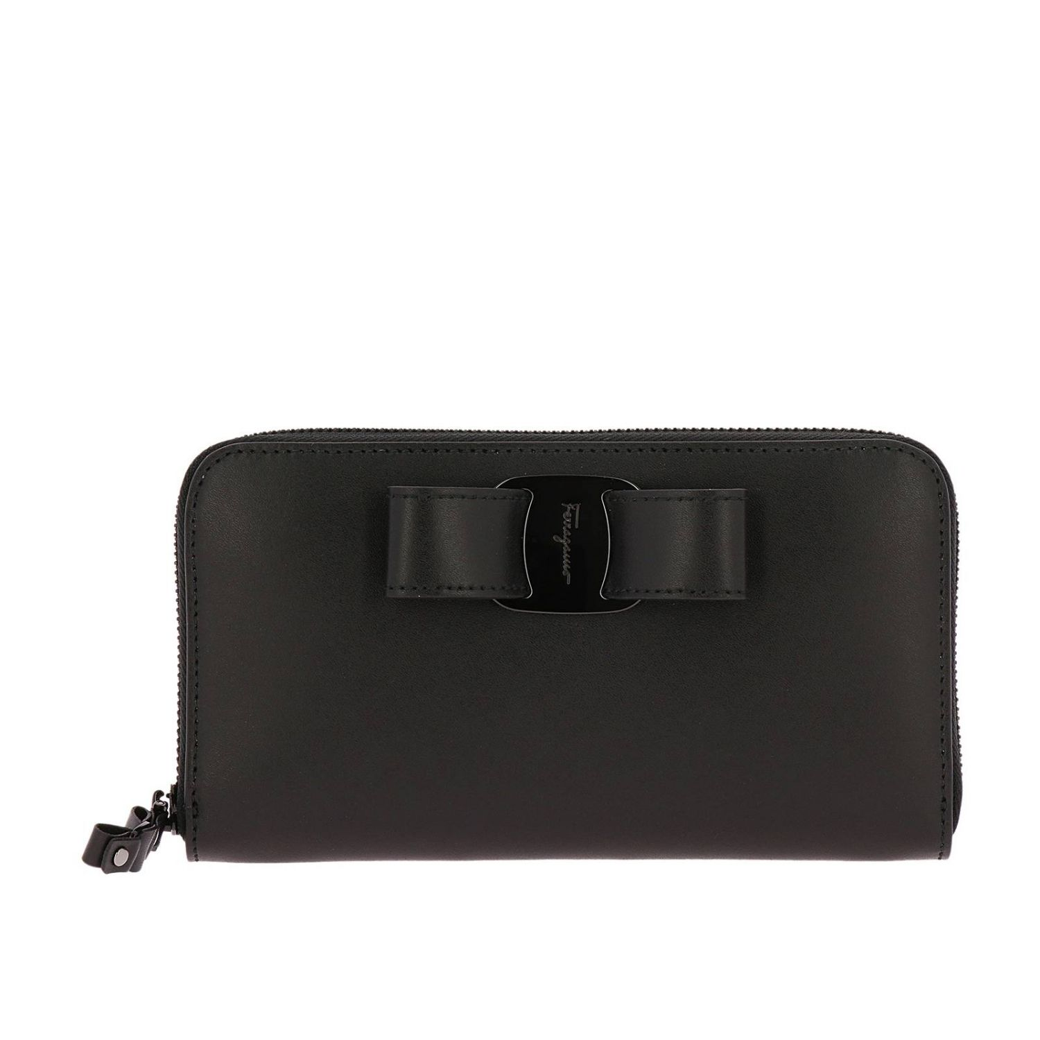 Vara Rainbow continental zip around wallet in smooth leather with Vara maxi bow black 1