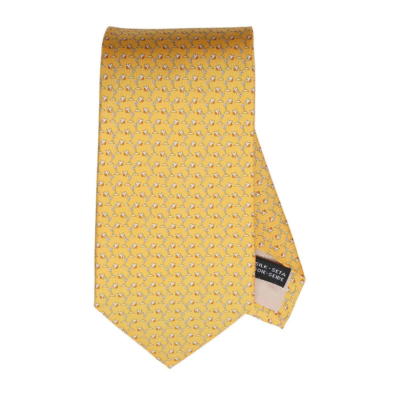 Tie Salvatore Ferragamo Lamps Pattern Tie In Pure Silk 8 Cm
