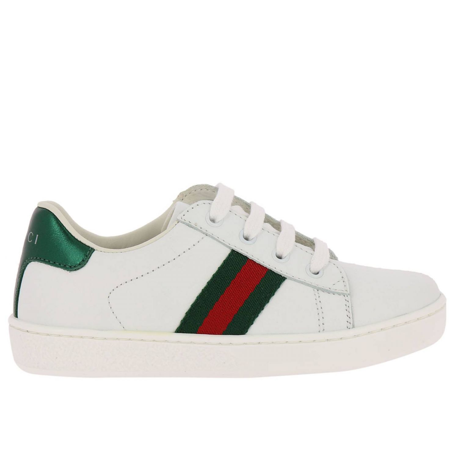 Shoes Classic New Ace Sneakers In Genuine Smooth Leather With Web Gucci Bands 8401165