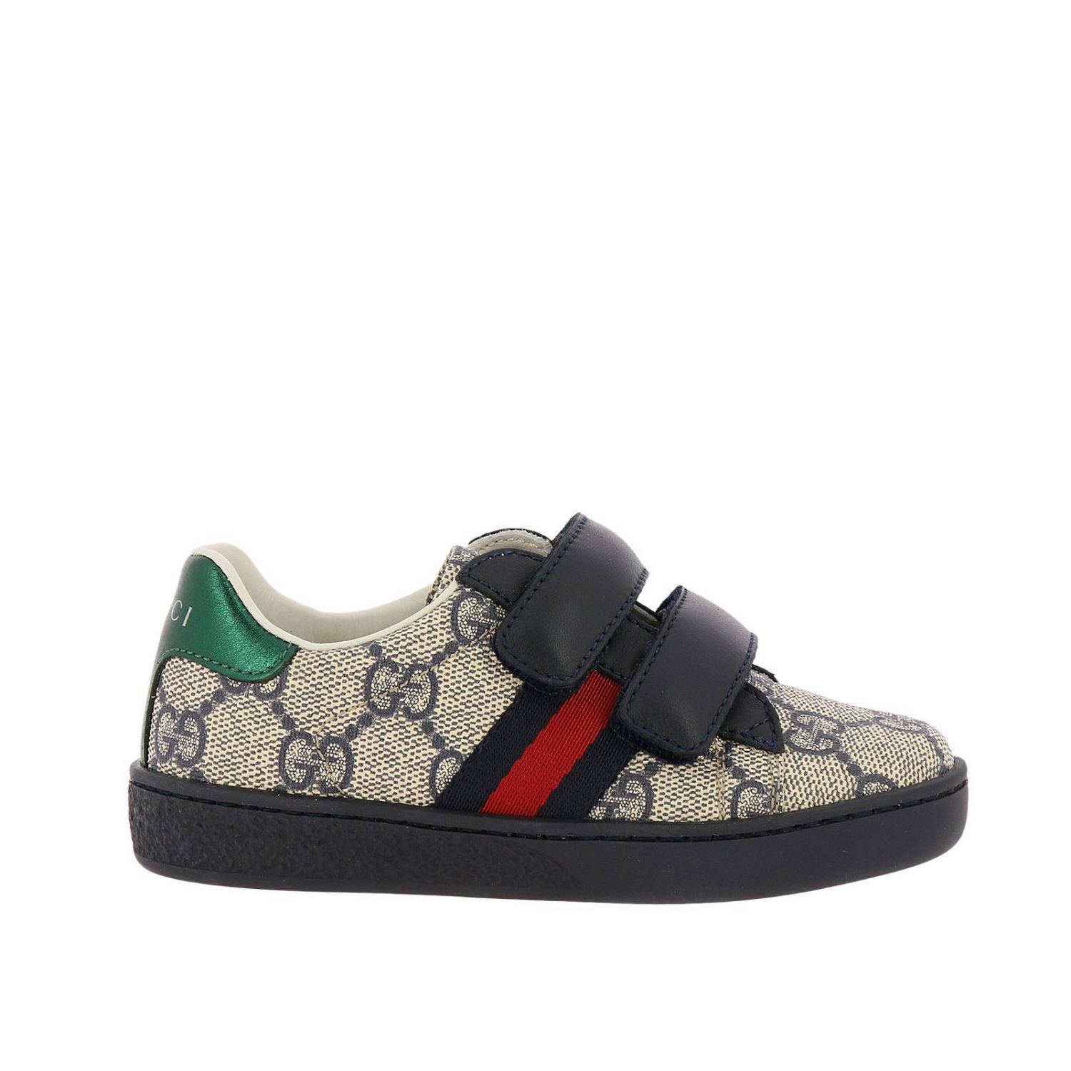 Shoes New Ace Sneakers In Leather With Gg Supreme Print And Web Gucci Bands 8401191
