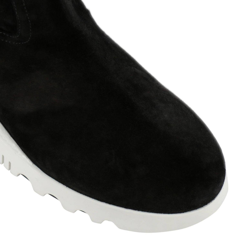 Bottines plates Miu Miu: Chaussures femme Miu Miu noir 3