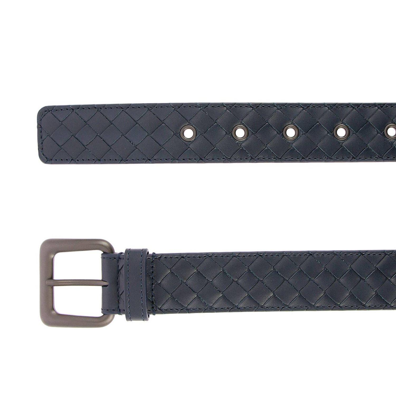 Belt Bottega Veneta: Woven Leather belt with classic buckle blue 2