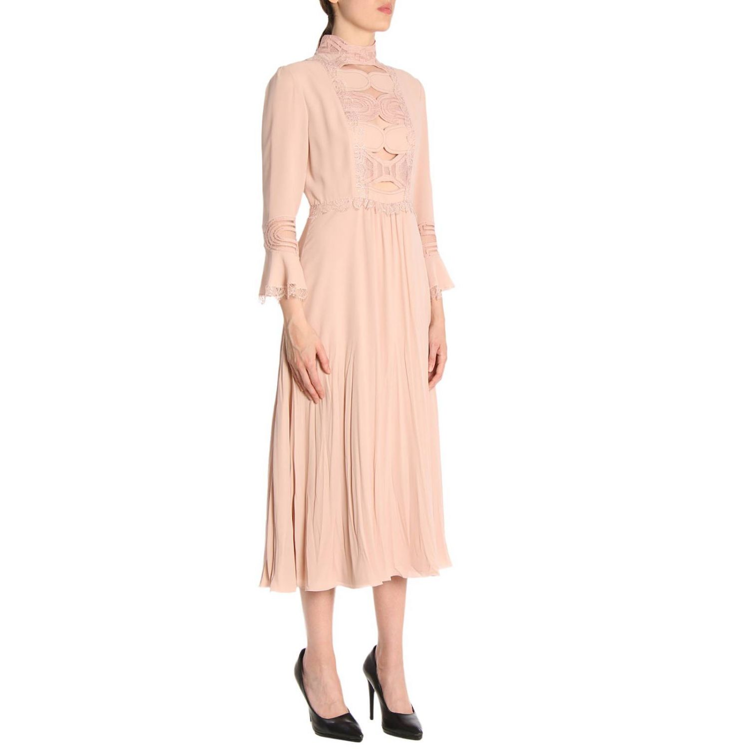 Dress Bottega Veneta: Dress women Bottega Veneta blush pink 2
