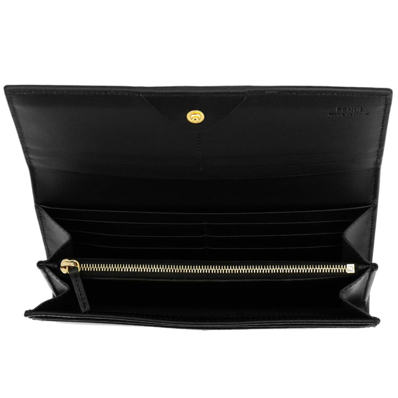 Portefeuille Fendi: Portefeuille femme Fendi noir 2