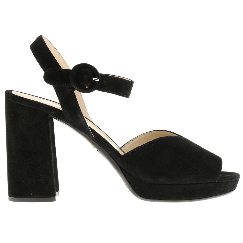Heeled sandals Prada: Shoes women Prada black 1