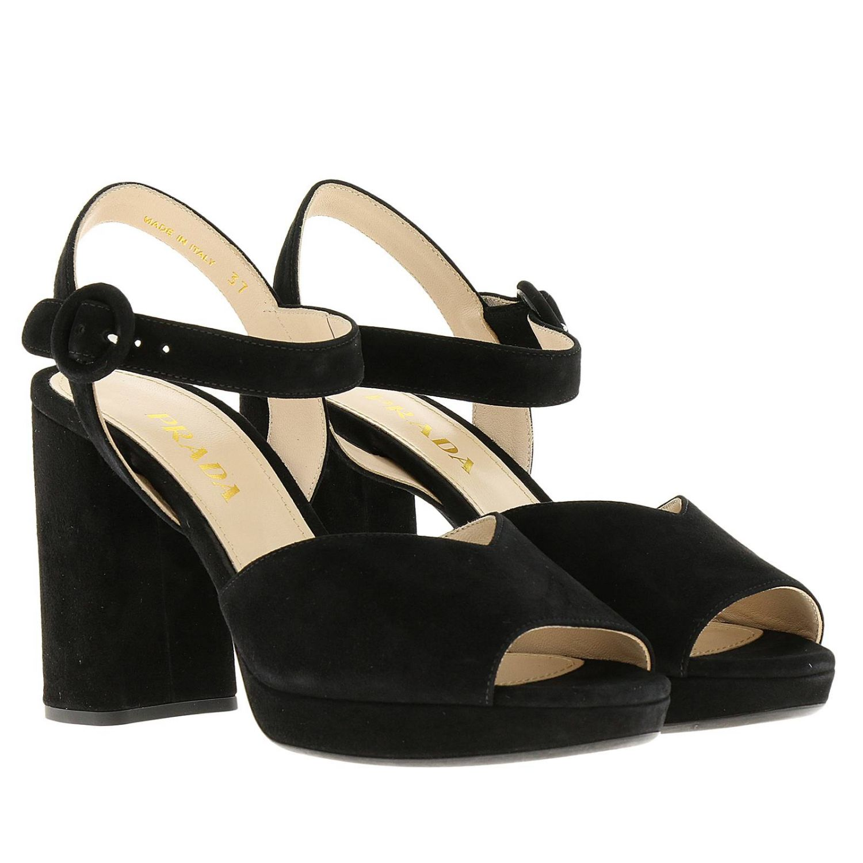 Heeled sandals Prada: Shoes women Prada black 2