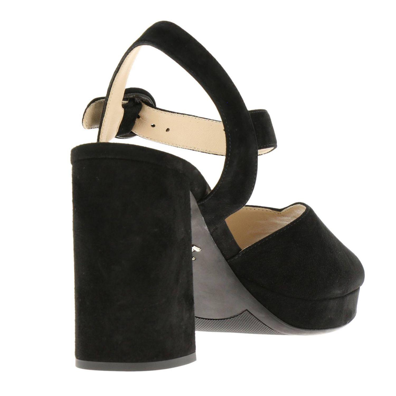Heeled sandals Prada: Shoes women Prada black 4