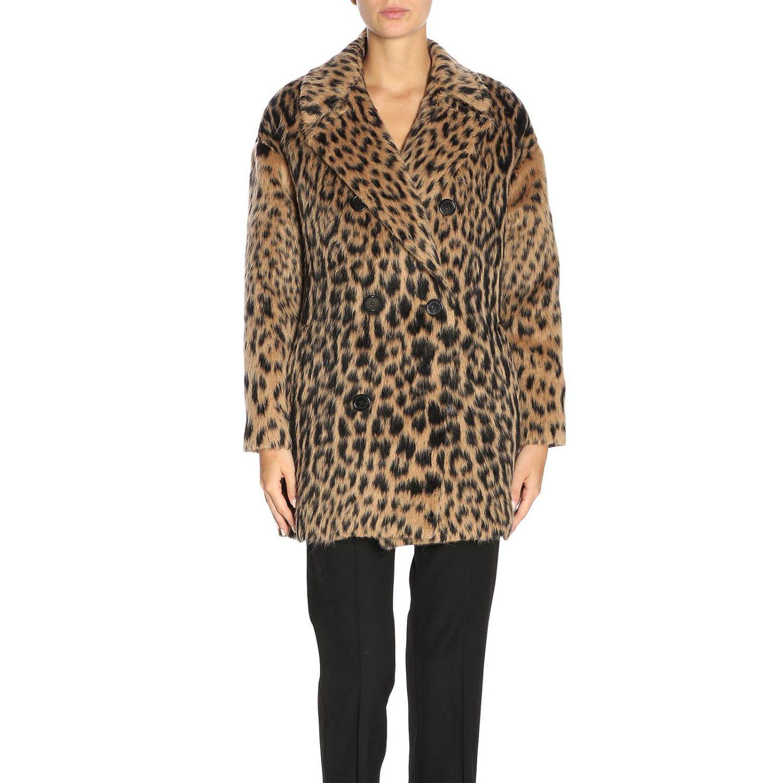Coat women Saint Laurent brown 1