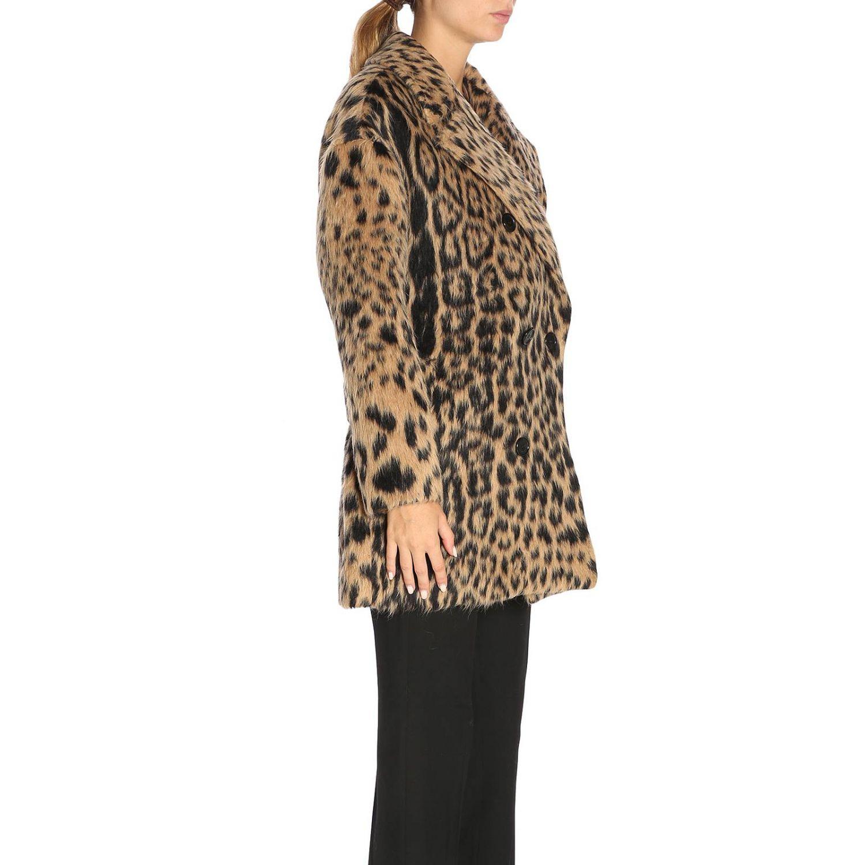 Coat women Saint Laurent brown 2