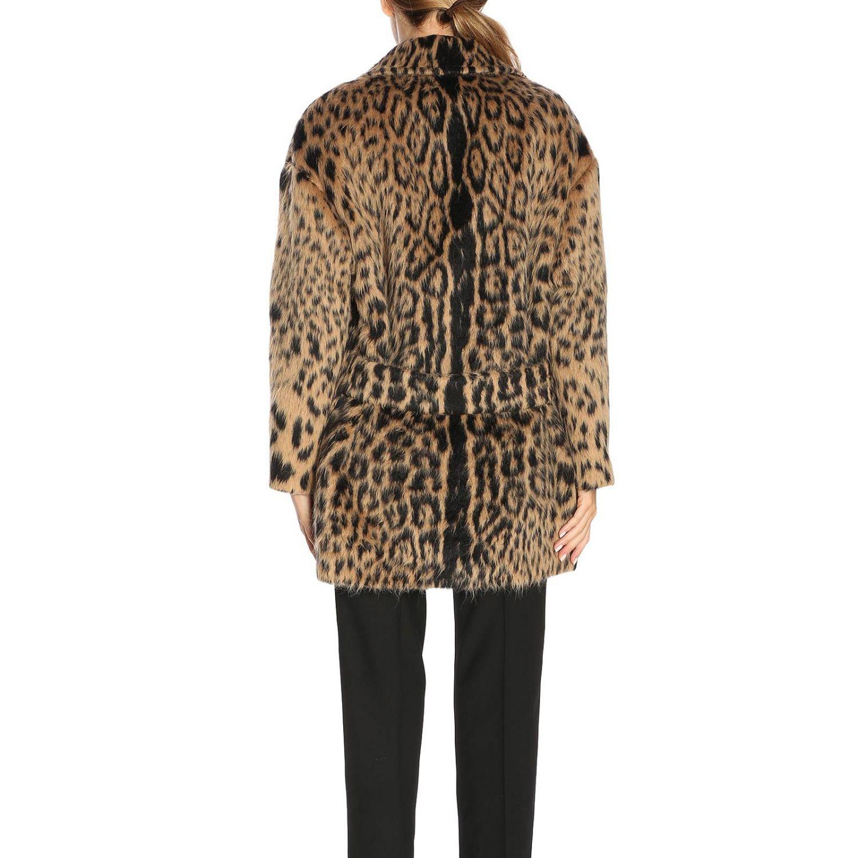 Coat women Saint Laurent brown 3