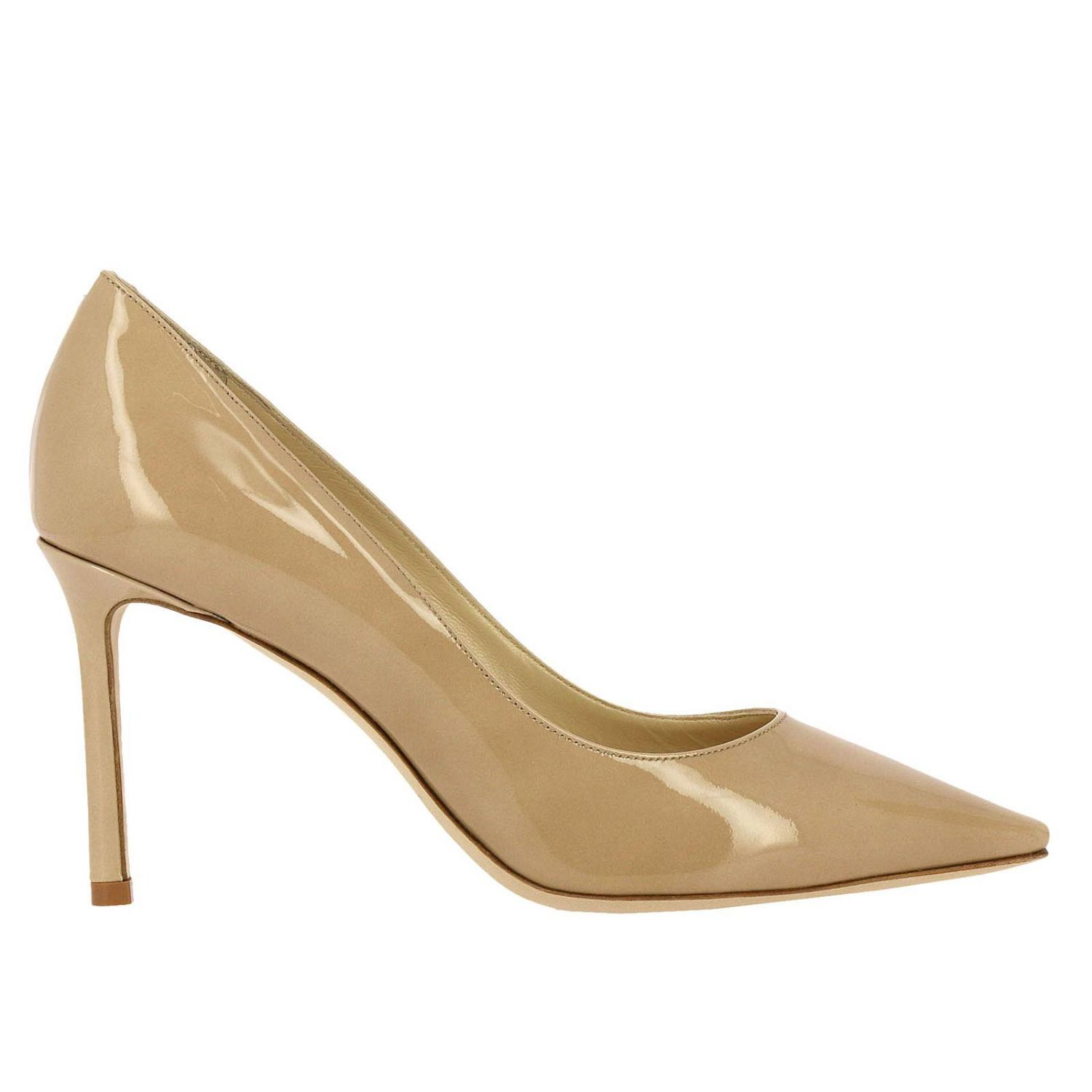 Pumps Jimmy Choo: Jimmy Choo Romy décolleté in patent leather nude 1
