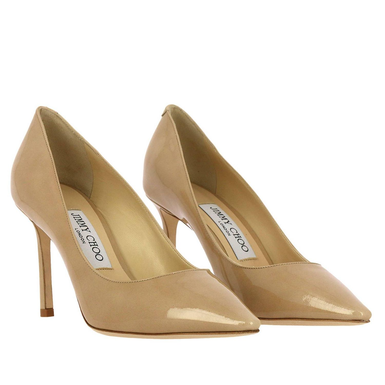 Pumps Jimmy Choo: Jimmy Choo Romy décolleté in patent leather nude 2