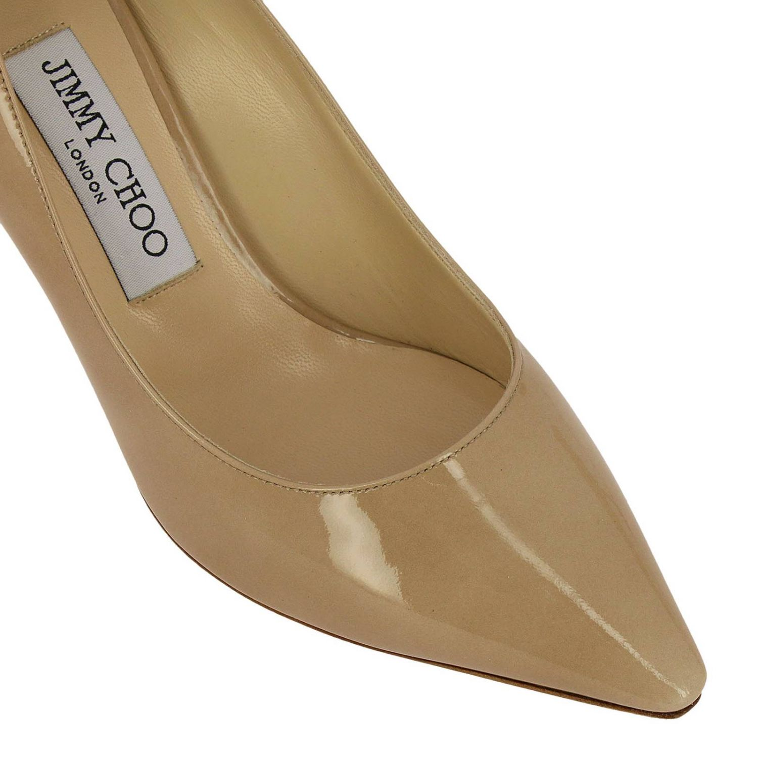 Pumps Jimmy Choo: Jimmy Choo Romy décolleté in patent leather nude 3