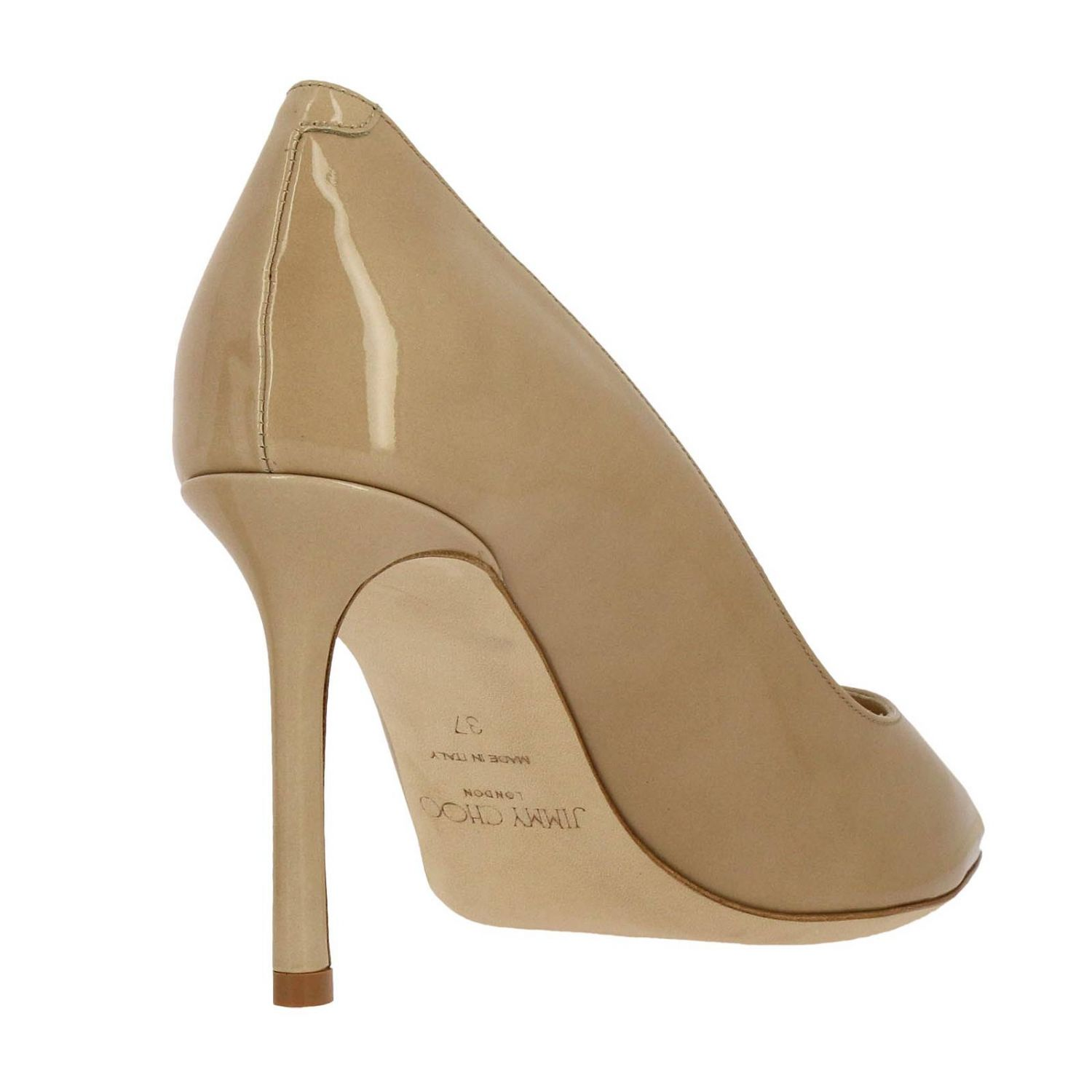 Pumps Jimmy Choo: Jimmy Choo Romy décolleté in patent leather nude 4