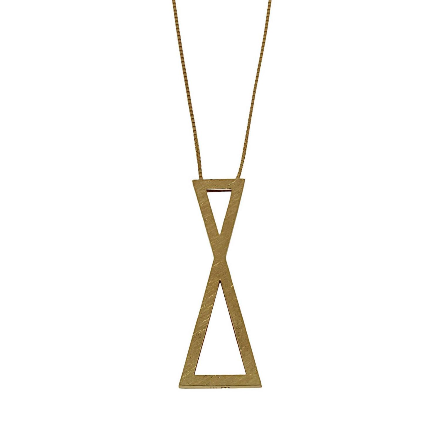 Collana Big clepsydra pendant in argento 925 Linear Collection oro 1