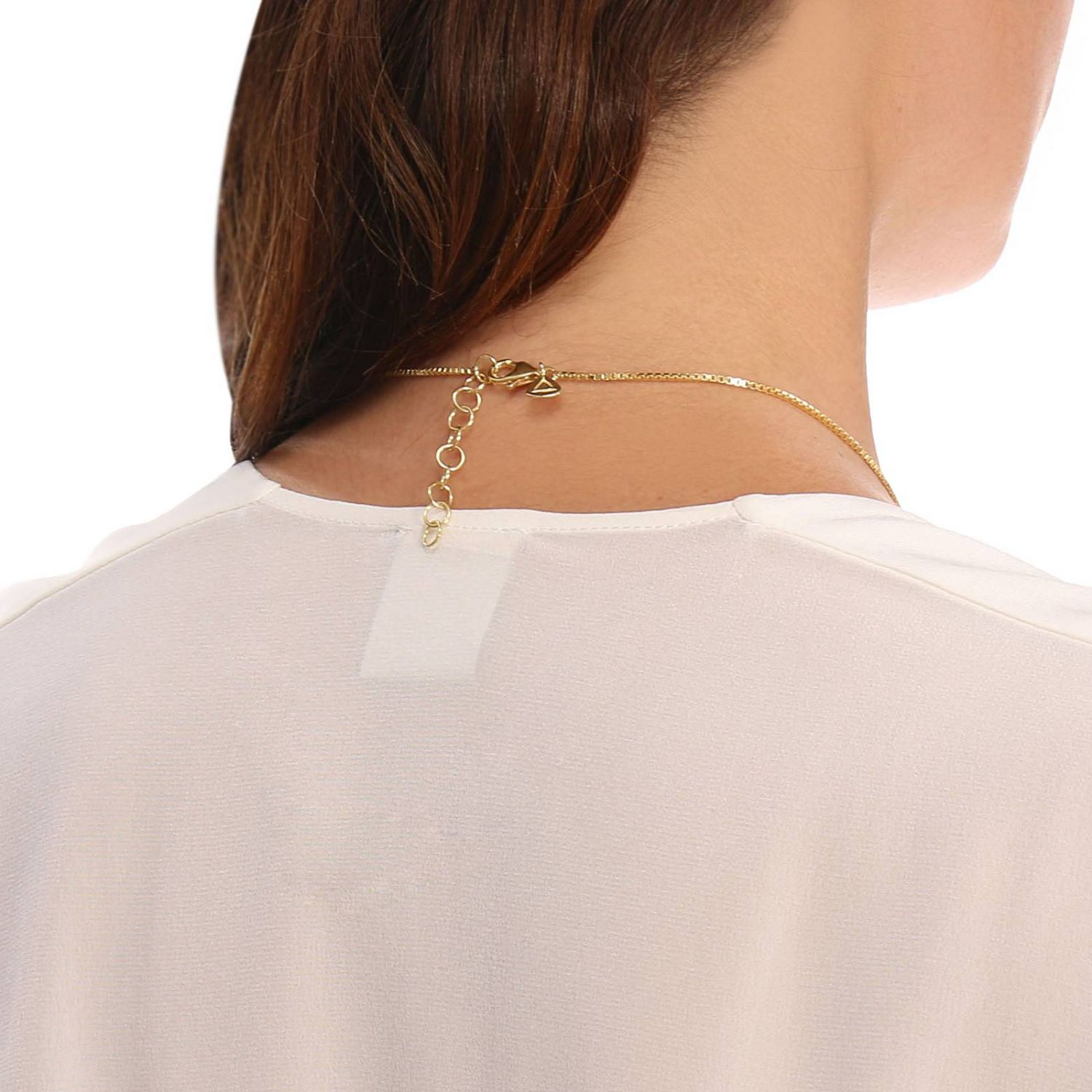 Collana Big clepsydra pendant in argento 925 Linear Collection oro 3