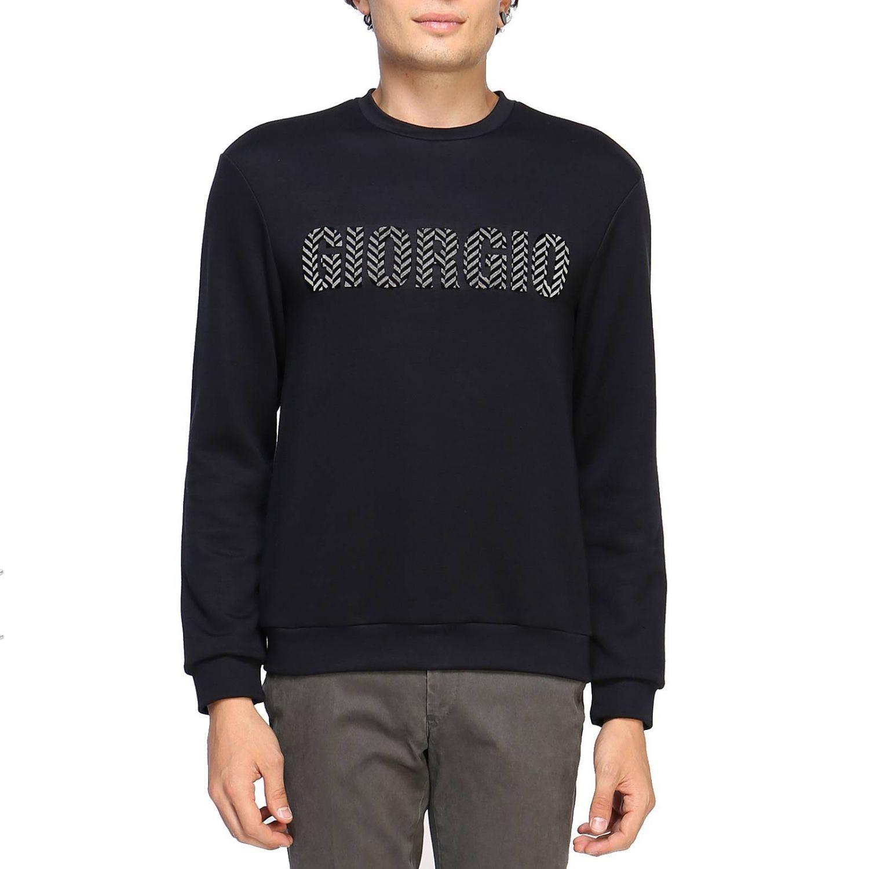Sweatshirt Giorgio Armani: Pullover herren Giorgio Armani blau 1