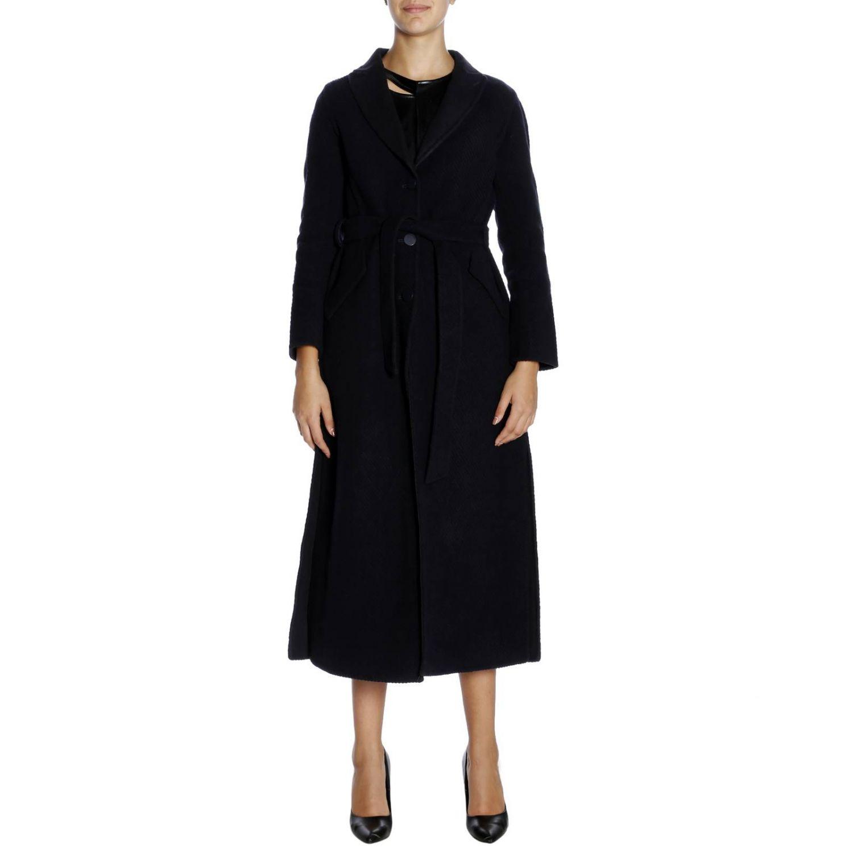 Cappotto a monopetto classic in panno di lana blue 1