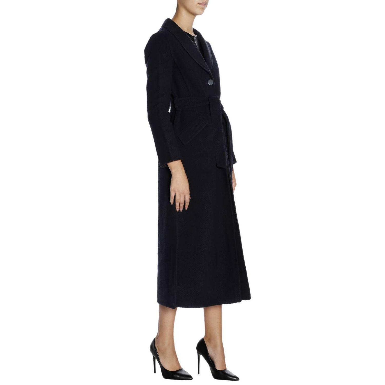 Cappotto a monopetto classic in panno di lana blue 2