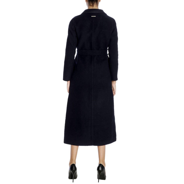 Cappotto a monopetto classic in panno di lana blue 3