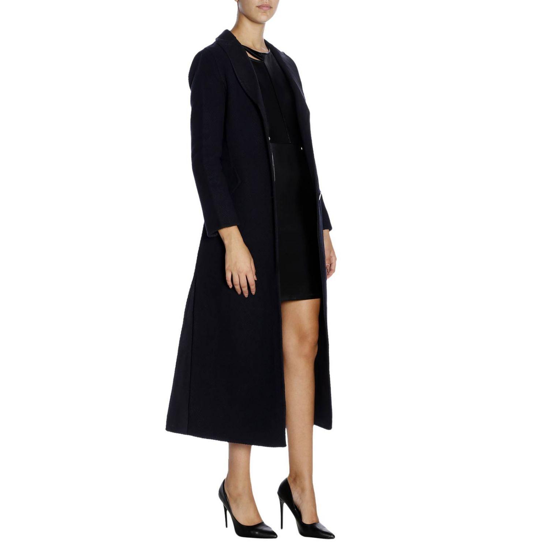 Cappotto a monopetto classic in panno di lana blue 4