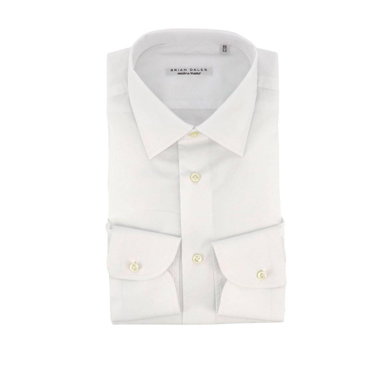 Camicia classica Sartoriale slim in popeline con collo francese bianco 1