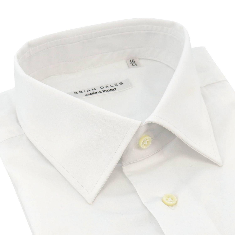 Camicia classica Sartoriale slim in popeline con collo francese bianco 2