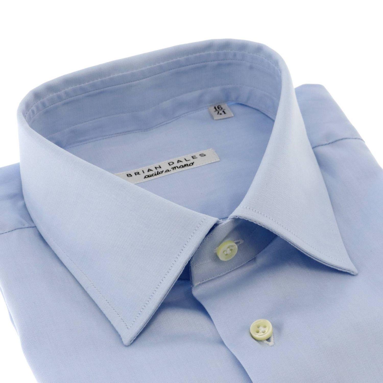 Camicia classica con collo italiano celeste 2