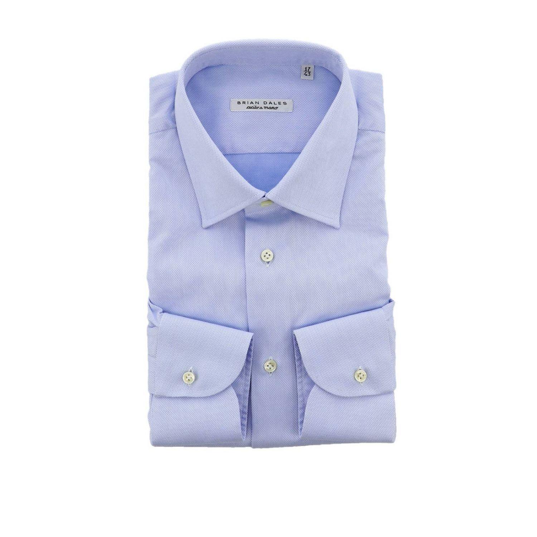 Рубашка Мужское Brian Dales Camicie голубой 1