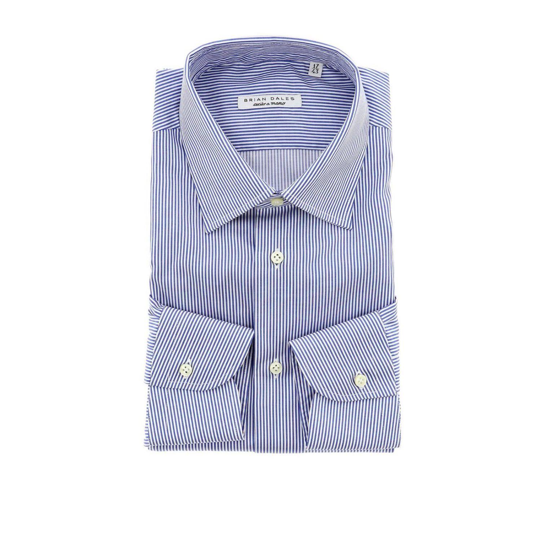 Camicia con collo italiano slim bacchetta azzurro 1