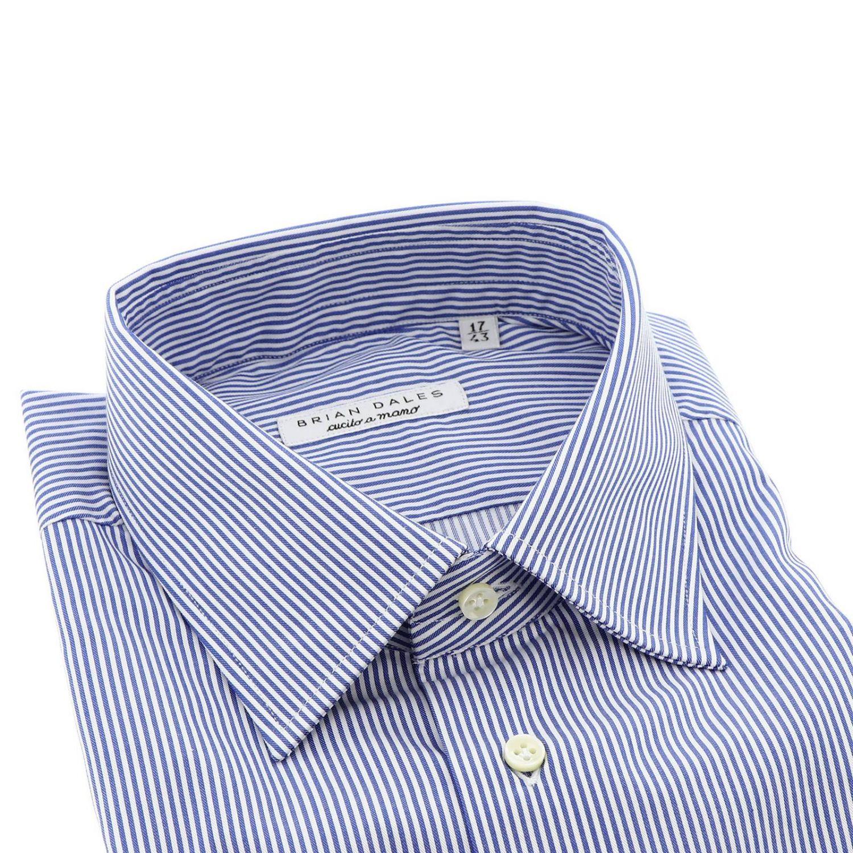 Camicia con collo italiano slim bacchetta azzurro 2