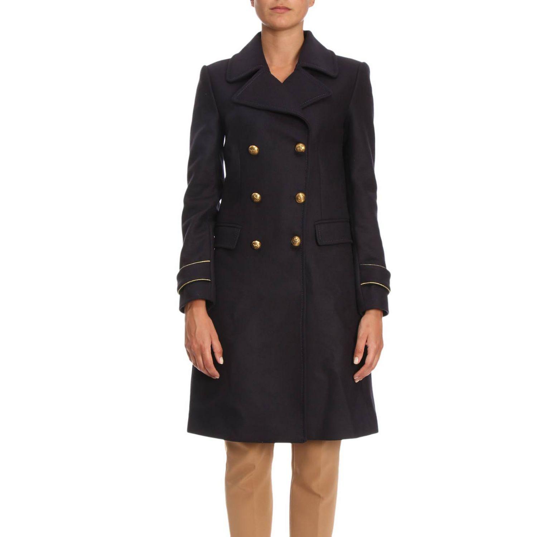Cappotto Quadro 2 a doppiopetto in panno diagonale con rifiniture lurex blue 1