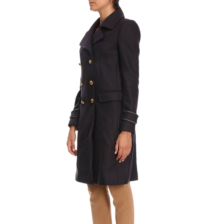 Cappotto Quadro 2 a doppiopetto in panno diagonale con rifiniture lurex blue 2