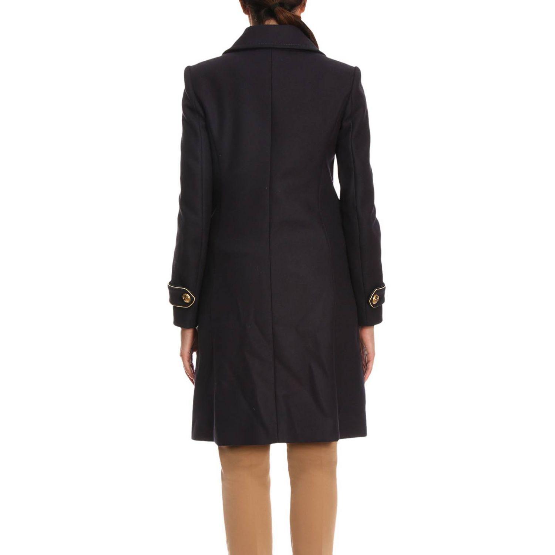 Cappotto Quadro 2 a doppiopetto in panno diagonale con rifiniture lurex blue 3