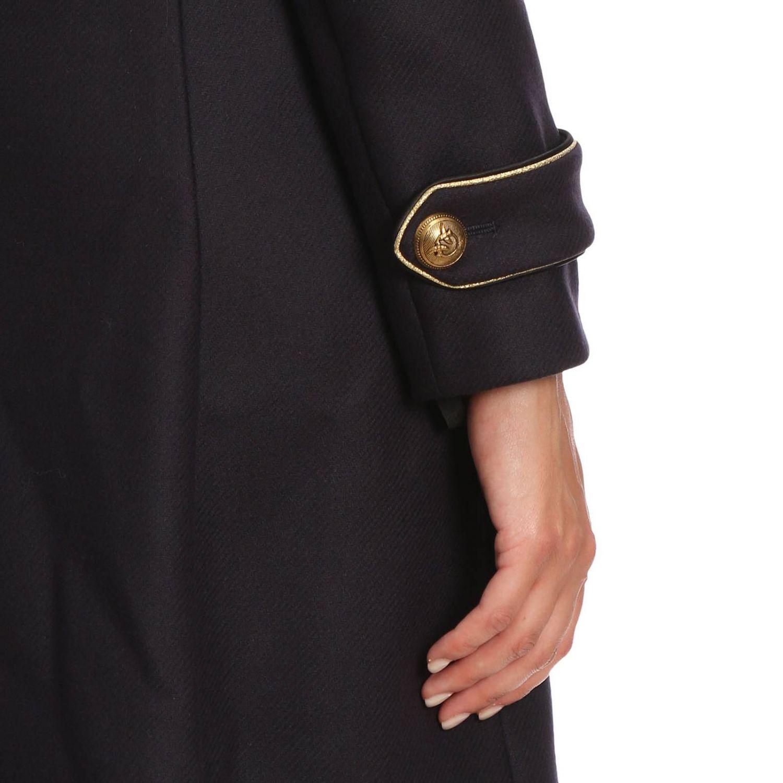 Cappotto Quadro 2 a doppiopetto in panno diagonale con rifiniture lurex blue 4