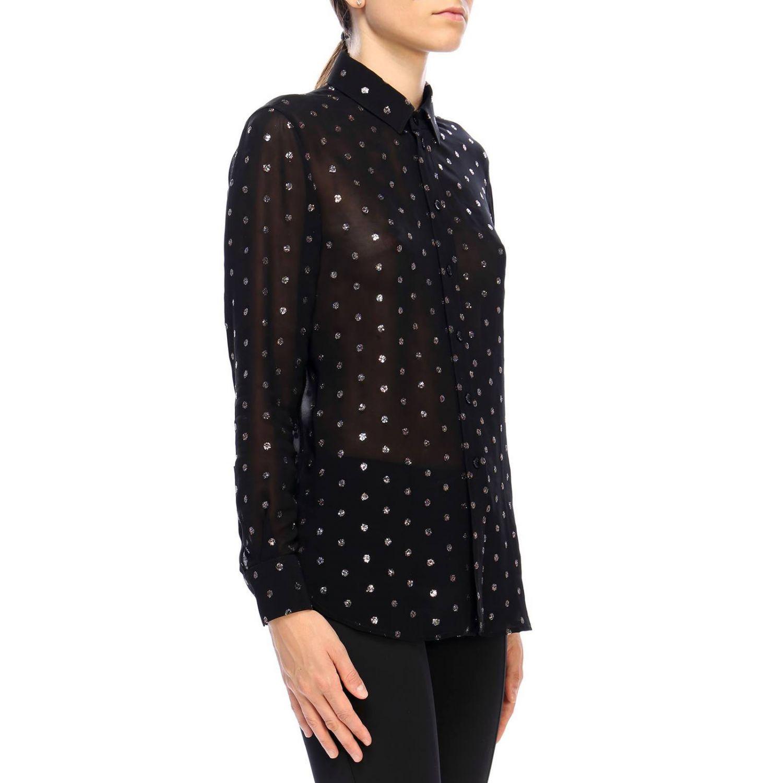 Camicia in georgette con pois glitter fantasia 2