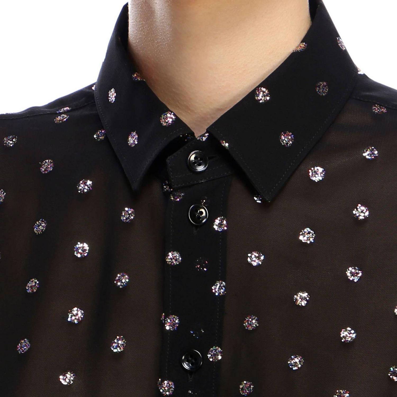 Camicia in georgette con pois glitter fantasia 4