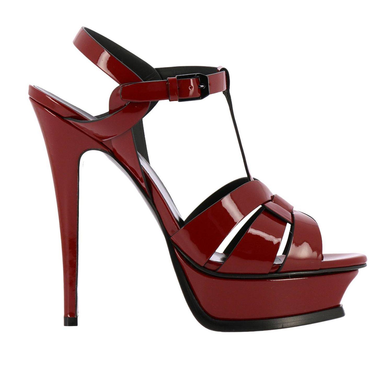Shoes women Saint Laurent burgundy 1