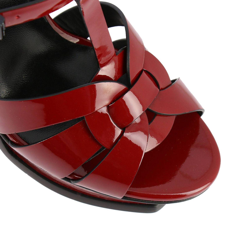 Shoes women Saint Laurent burgundy 3
