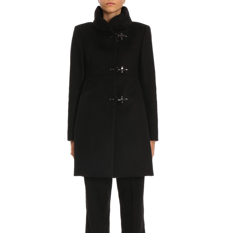 Cappotto New romantic in panno di lana vergine e cashmere con tre alamari Fay
