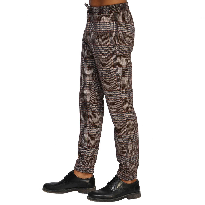 Pantalone Etro: Pantalone jogging in lana con fantasia Principe di Galles beige 2