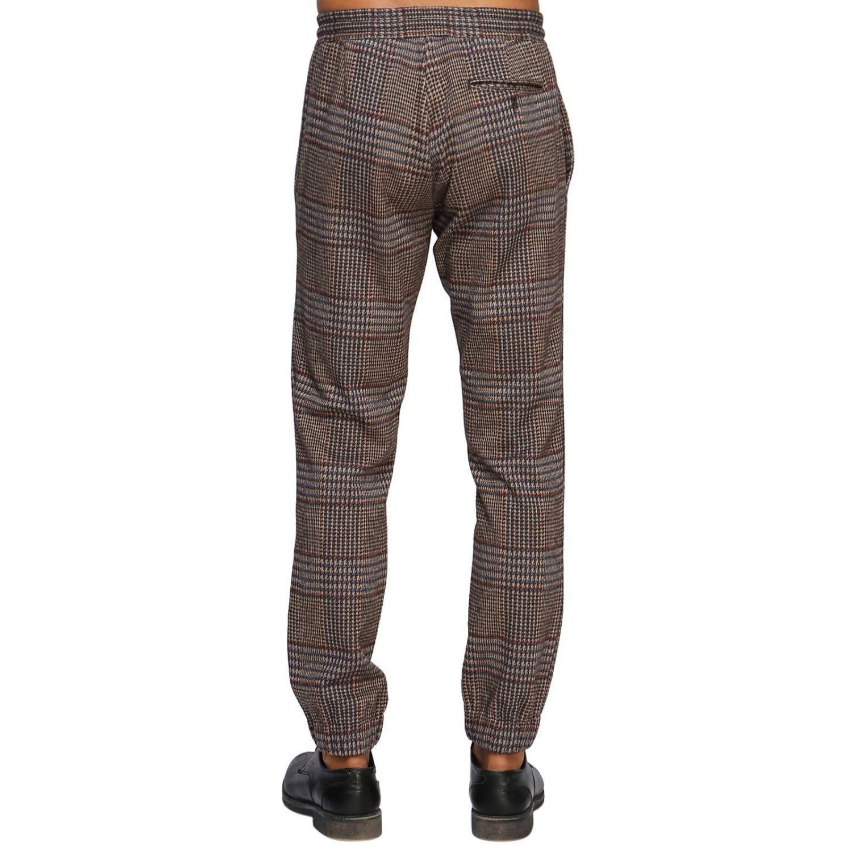 Pantalone Etro: Pantalone jogging in lana con fantasia Principe di Galles beige 3