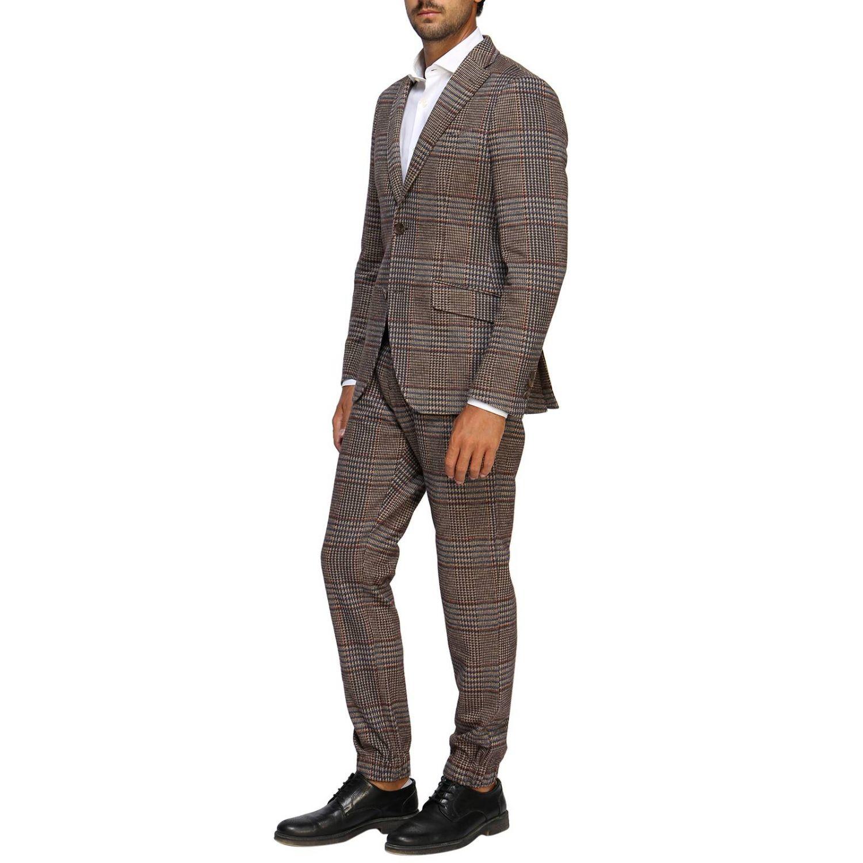 Pantalone Etro: Pantalone jogging in lana con fantasia Principe di Galles beige 4